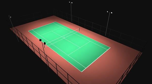 oświetlenie kortów tenisowych